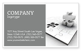 Part Business Card Template, 02984, Business Concepts — PoweredTemplate.com