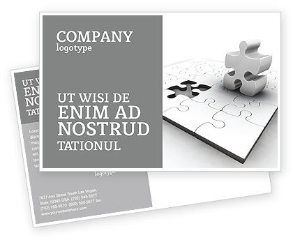 Part Postcard Template, 02984, Business Concepts — PoweredTemplate.com