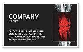 Joint Business Card Template, 02985, Medical — PoweredTemplate.com