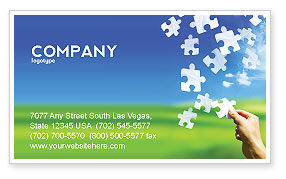 Business Concepts: Picture of the World Business Card Template #02986