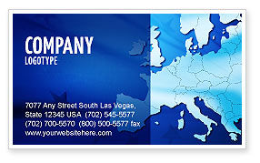 Europe Business Card Template, 02988, Global — PoweredTemplate.com
