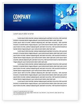 Global: Europe Letterhead Template #02988