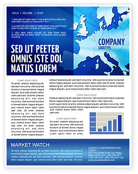 Europe Newsletter Template, 02988, Global — PoweredTemplate.com