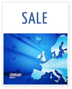 Europe Sale Poster Template, 02988, Global — PoweredTemplate.com