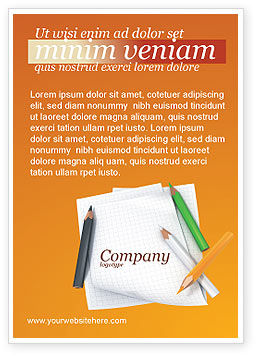 Education & Training: Notebook Ad Template #02990