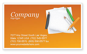 Notebook Business Card Template, 02990, Education & Training — PoweredTemplate.com