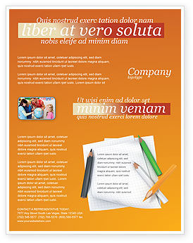 Education & Training: Notebook Flyer Template #02990