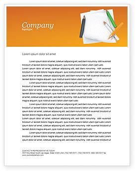 Notebook Letterhead Template, 02990, Education & Training — PoweredTemplate.com