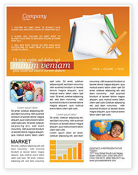 Education & Training: Notebook Newsletter Template #02990