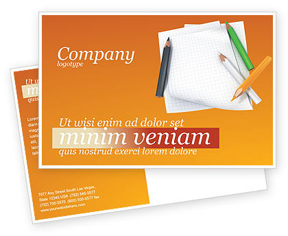 Education & Training: Notebook Postcard Template #02990