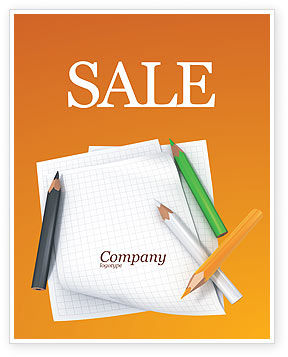 Notebook Sale Poster Template, 02990, Education & Training — PoweredTemplate.com