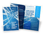 Abstract/Textures: Blue Lines Brochure Template #02991