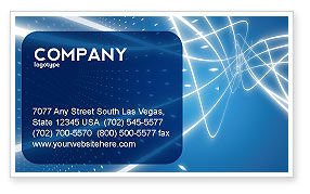 Blue Lines Business Card Template, 02991, Abstract/Textures — PoweredTemplate.com