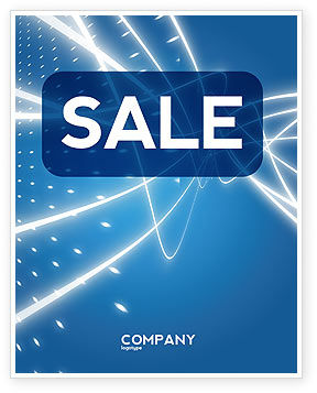 Abstract/Textures: Blue Lines Sale Poster Template #02991