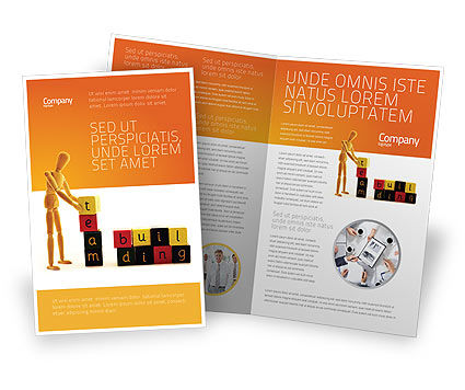 Consulting: Team Building Brochure Template #02993