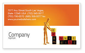 Consulting: Team Building Business Card Template #02993