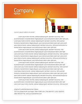 Consulting: Team Building Letterhead Template #02993