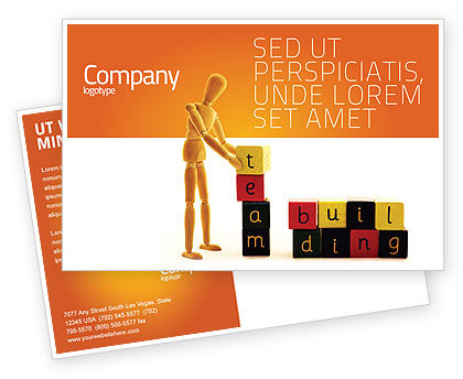 Consulting: Team Building Postcard Template #02993