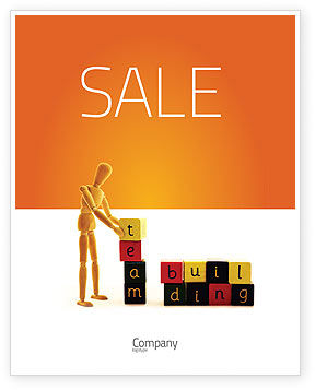 Team Building Sale Poster Template