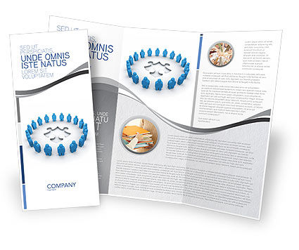 Circle Brochure Template, 02994, Business Concepts — PoweredTemplate.com