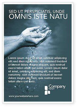 Nature & Environment: Water Ad Template #02995