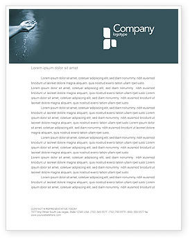 Nature & Environment: Water Letterhead Template #02995