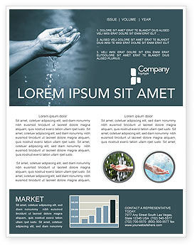 Nature & Environment: Water Newsletter Template #02995