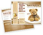 Holiday/Special Occasion: Teddy Bear On A White Background Brochure Template #02999