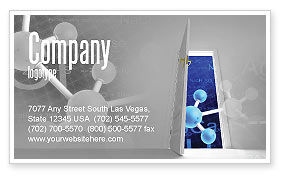 Technology, Science & Computers: Atom Structure Business Card Template #03000