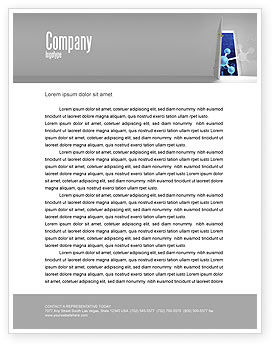 Technology, Science & Computers: Atom Structure Letterhead Template #03000