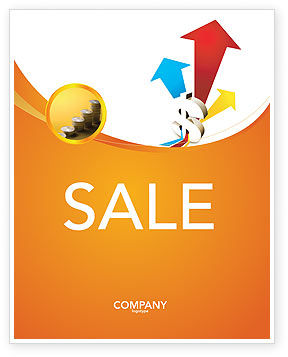 Financial/Accounting: Rate of Exchange Sale Poster Template #03002