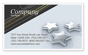 Careers/Industry: Stars Business Card Template #03006