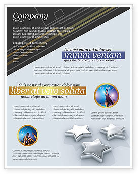 Careers/Industry: Stars Flyer Template #03006