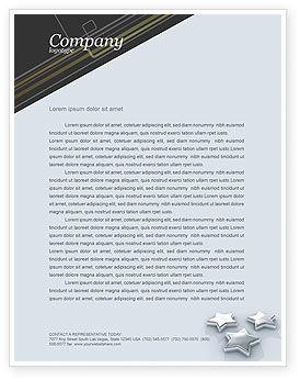 Stars Letterhead Template, 03006, Careers/Industry — PoweredTemplate.com