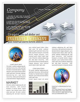 Careers/Industry: Modelo de Newsletter - estrelas #03006