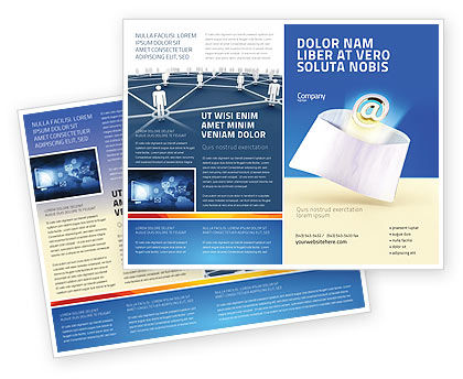 Telecommunication: You've Got Email Brochure Template #03007