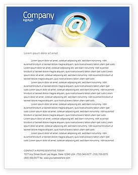 Telecommunication: You've Got Email Letterhead Template #03007