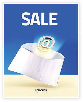 You've Got Email Sale Poster Template, 03007, Telecommunication — PoweredTemplate.com