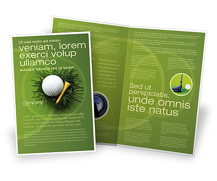 Golf Ball In The Nest Brochure Template, 03010, Sports — PoweredTemplate.com