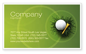 Sports: Golf Ball In The Nest Business Card Template #03010