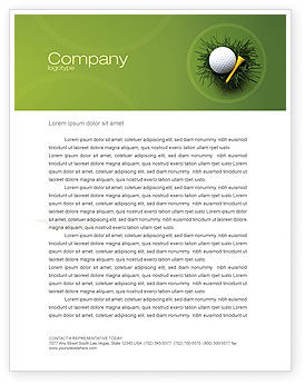 Sports: Golf Ball In The Nest Letterhead Template #03010