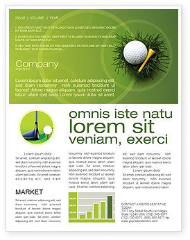 Sports: Golf Ball In The Nest Newsletter Template #03010