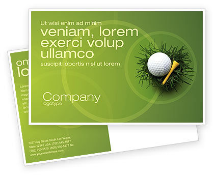 Sports: Golfball im nest Postkarte Vorlage #03010