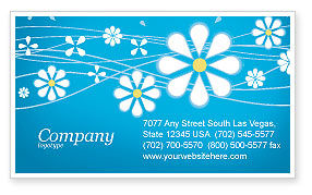 Spring Business Card Template, 03011, Abstract/Textures — PoweredTemplate.com