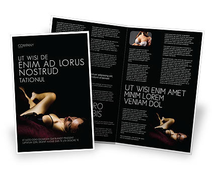 Sexy Brochure Template, 03012, Art & Entertainment — PoweredTemplate.com