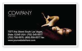 Sexy Business Card Template, 03012, Art & Entertainment — PoweredTemplate.com