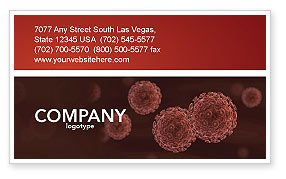 Red Corpuscles Business Card Template, 03014, Medical — PoweredTemplate.com