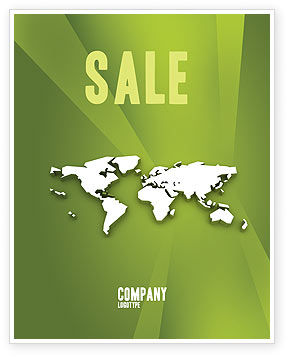 Whole World Sale Poster Template, 03015, Abstract/Textures — PoweredTemplate.com