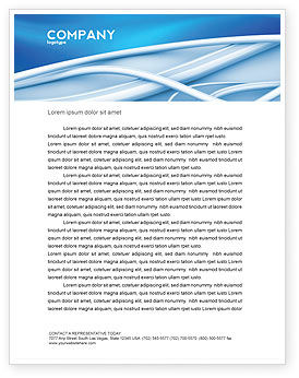 Art Design Letterhead Template, 03016, Telecommunication — PoweredTemplate.com