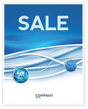 Telecommunication: Art Design Sale Poster Template #03016